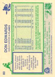 1983-84 O-Pee-Chee #80 Don Edwards back image
