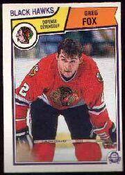1983-84 O-Pee-Chee #101 Greg Fox