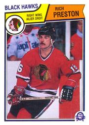 1983-84 O-Pee-Chee #110 Rich Preston