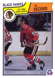 1983-84 O-Pee-Chee #112 Al Secord