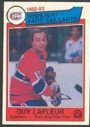 1983-84 O-Pee-Chee #183 Guy Lafleur HL front image