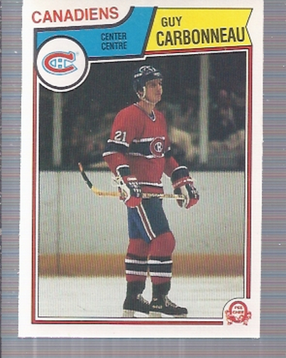 1983-84 O-Pee-Chee #185 Guy Carbonneau RC