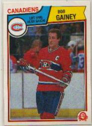 1983-84 O-Pee-Chee #187 Bob Gainey front image