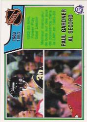 1983-84 O-Pee-Chee #219 Paul Gardner/Al Secord LL