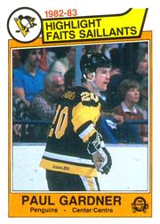 1983-84 O-Pee-Chee #275 Paul Gardner HL
