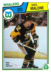 1983-84 O-Pee-Chee #284 Greg Malone