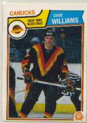 1983-84 O-Pee-Chee #363 Tiger Williams front image