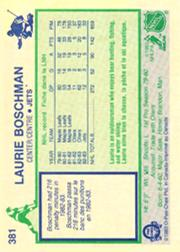 1983-84 O-Pee-Chee #381 Laurie Boschman back image