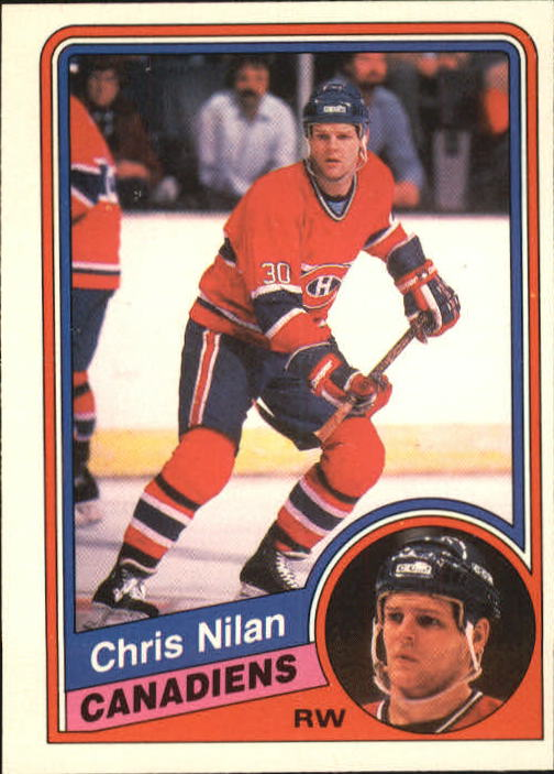 1984-85 O-Pee-Chee #268 Chris Nilan