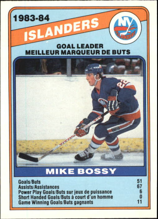 1984-85 O-Pee-Chee #362 Mike Bossy TL