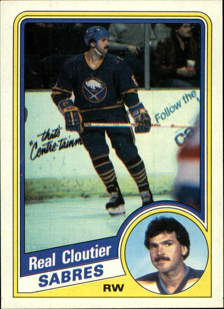 1984-85 Topps #15 Real Cloutier SP front image