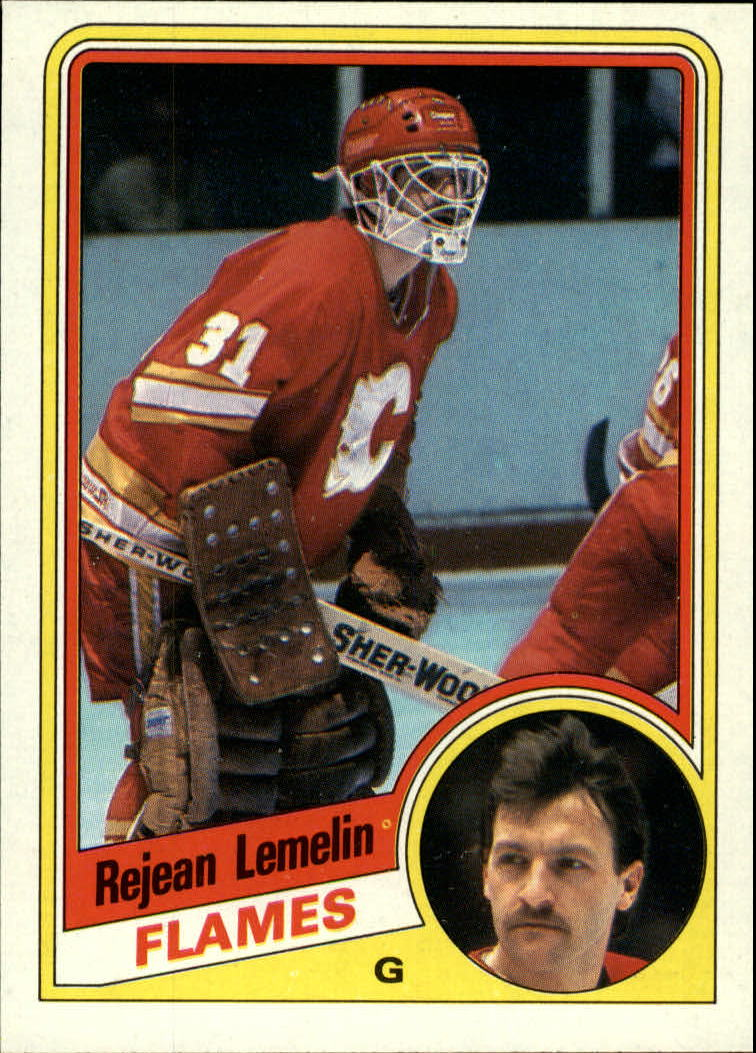 1984-85 Topps #25 Rejean Lemelin SP