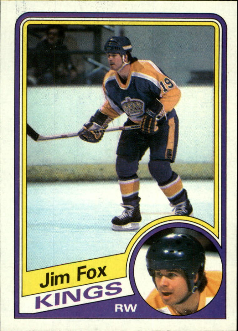 1984-85 Topps #66 Jim Fox SP