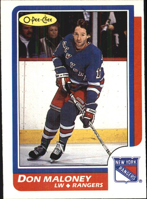 1986-87 O-Pee-Chee #81 Don Maloney