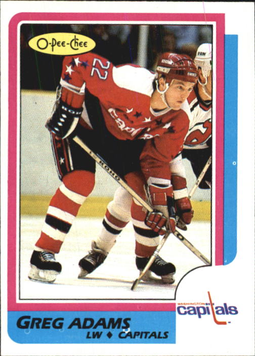 1986-87 O-Pee-Chee #253 Greg C.Adams RC