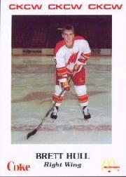 1986-87 Moncton Golden Flames #20 Brett Hull