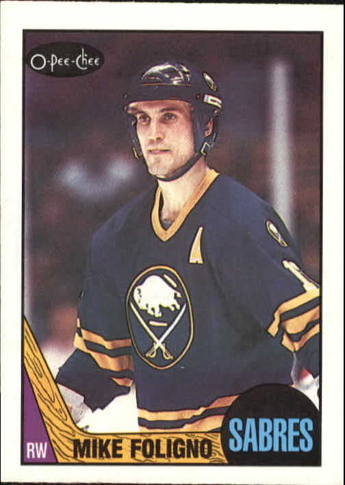 1987-88 O-Pee-Chee #40 Mike Foligno