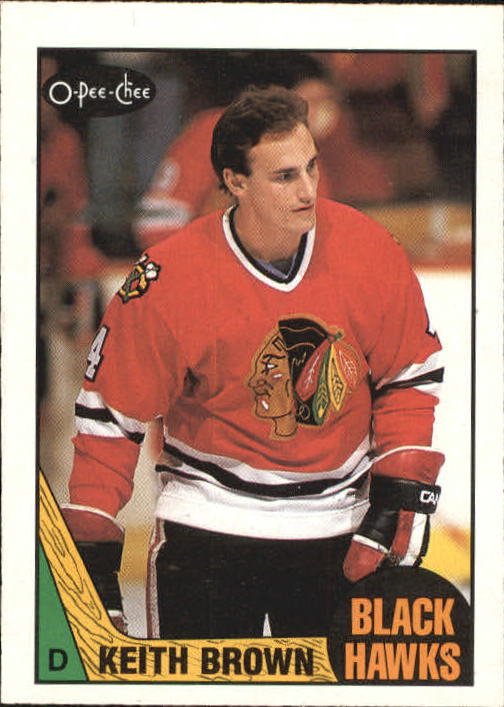 1987-88 O-Pee-Chee #47 Keith Brown