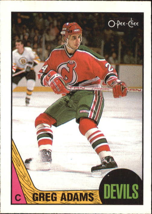 1987-88 O-Pee-Chee #135 Greg Adams