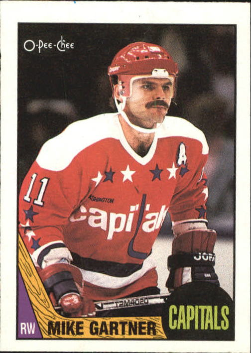 1987-88 O-Pee-Chee #168 Mike Gartner