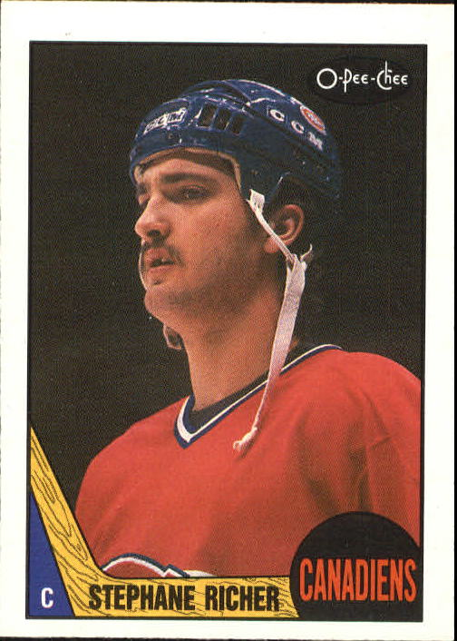 1987-88 O-Pee-Chee #233 Stephane Richer RC