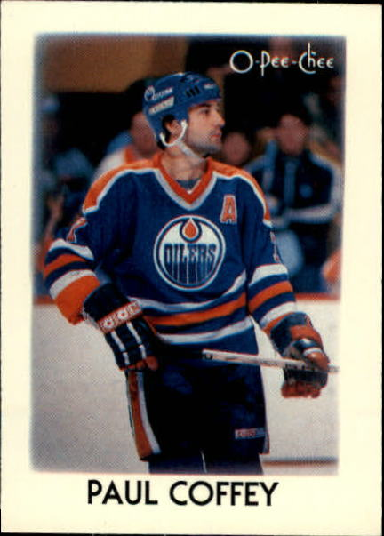 1987-88 O-Pee-Chee Minis #8 Paul Coffey