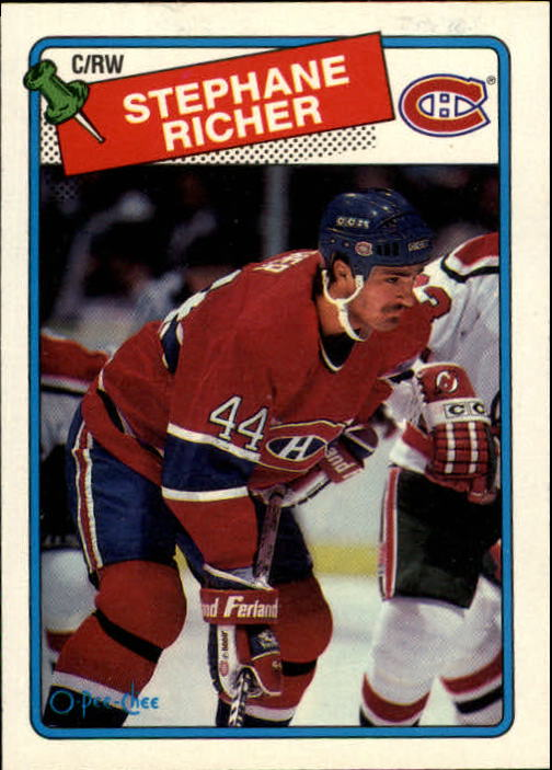 1988-89 O-Pee-Chee #5 Stephane Richer