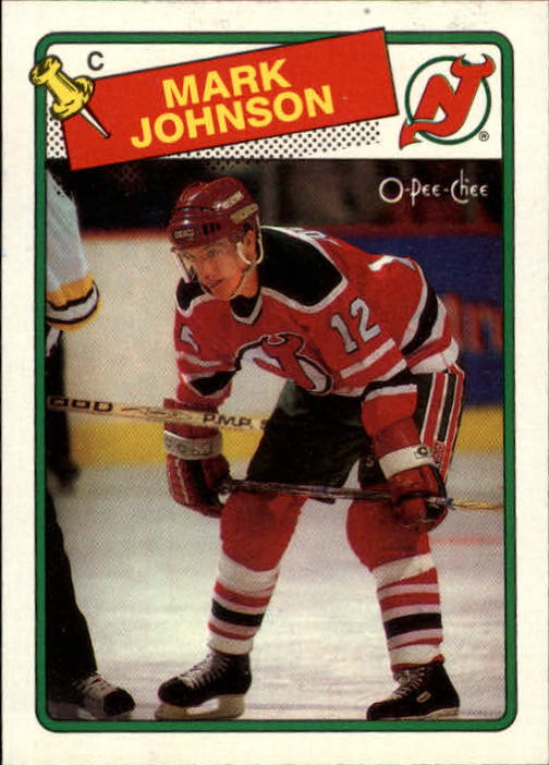 1988-89 O-Pee-Chee #45 Mark Johnson