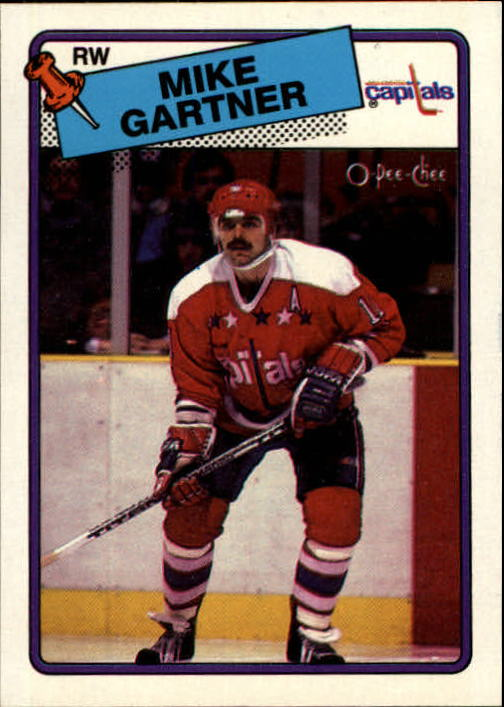 1988-89 O-Pee-Chee #50 Mike Gartner