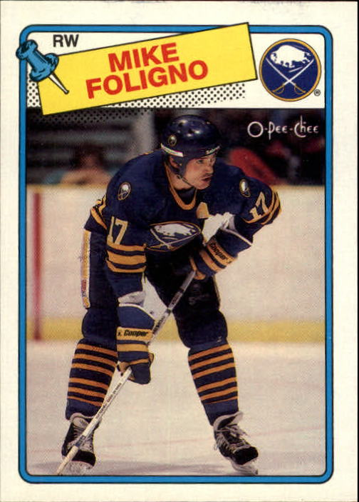 1988-89 O-Pee-Chee #184 Mike Foligno