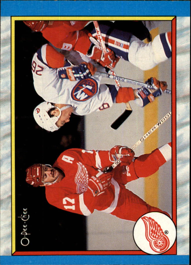 1989-90 O-Pee-Chee #302 Detroit Red Wings