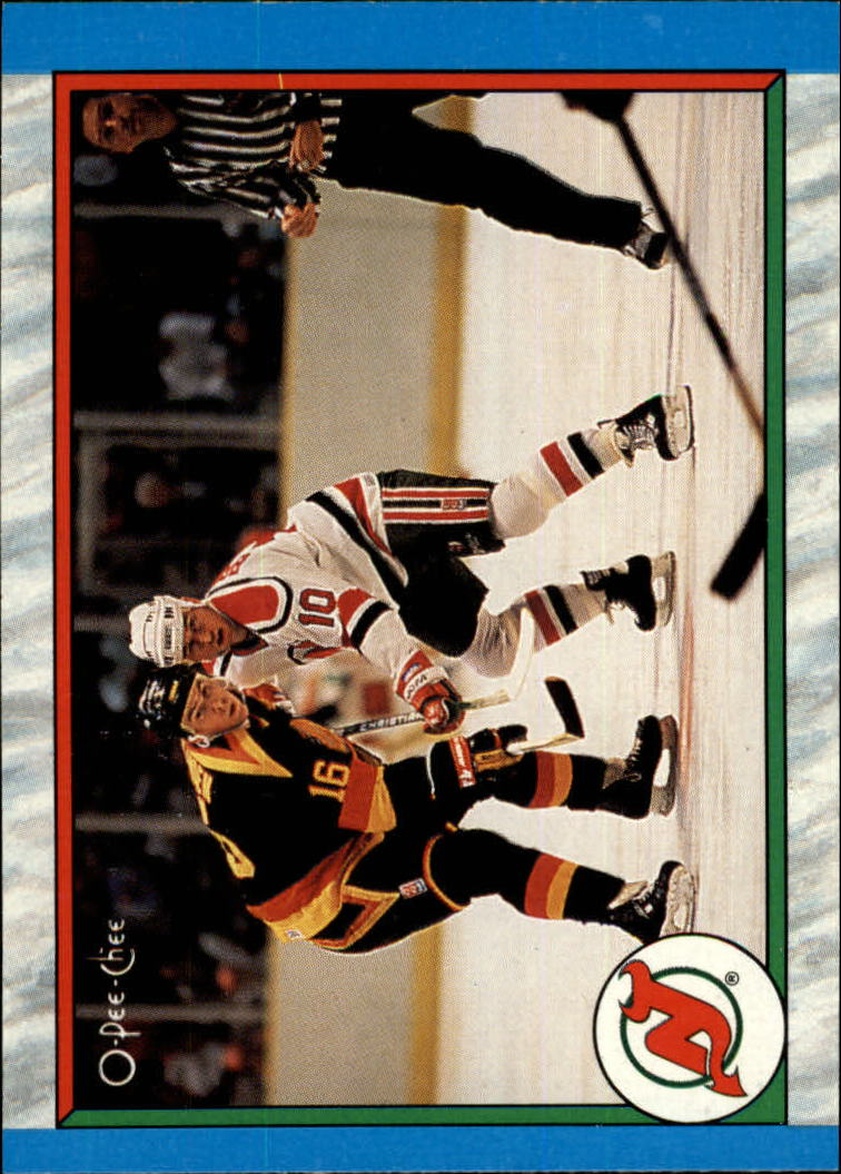 1989-90 O-Pee-Chee #308 New Jersey Devils