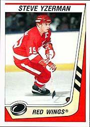 1989-90 Panini Stickers #57 Steve Yzerman