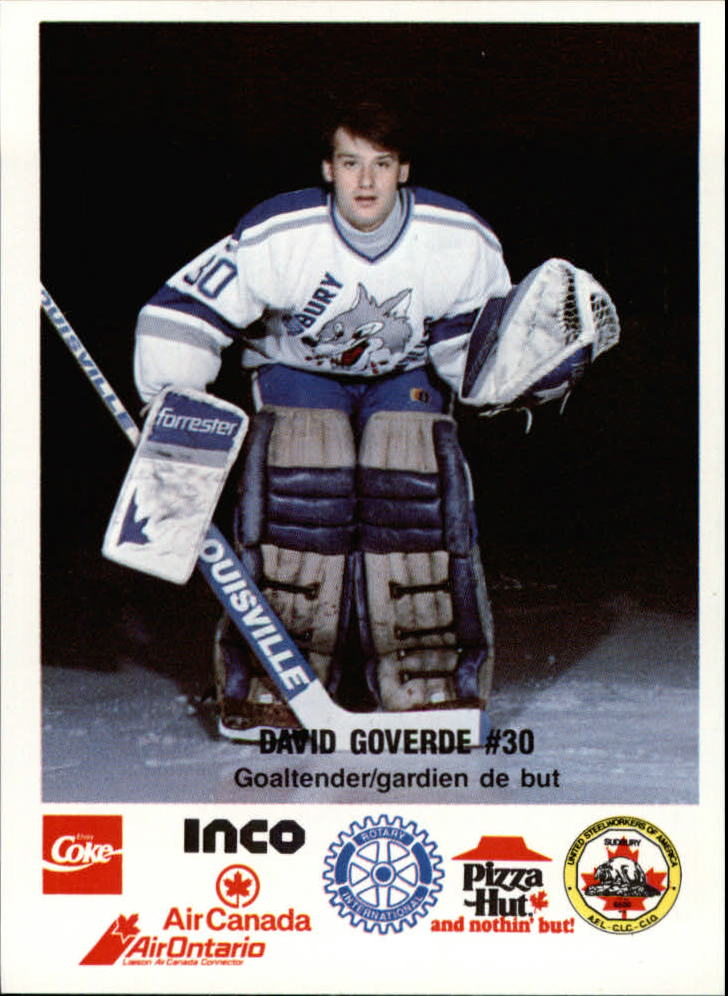 1989-90 Sudbury Wolves #19 David Goverde