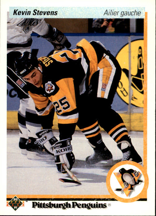 1990-91 Upper Deck French #14 Kevin Stevens RC
