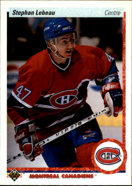1990-91 Upper Deck French #51 Stephan Lebeau RC