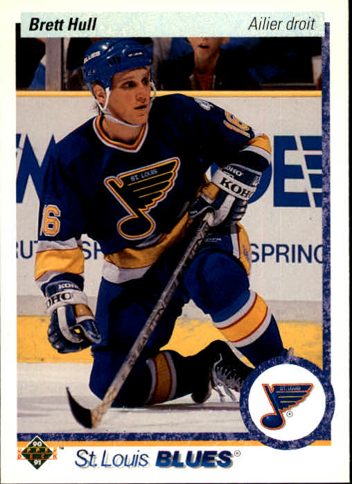 1990-91 Upper Deck French #154 Brett Hull