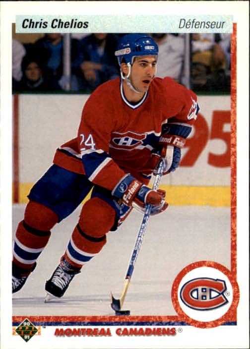 1990-91 Upper Deck French #174 Chris Chelios