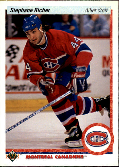1990-91 Upper Deck French #276 Stephane Richer