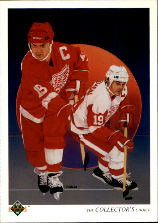 1990-91 Upper Deck French #303 Steve Yzerman TC