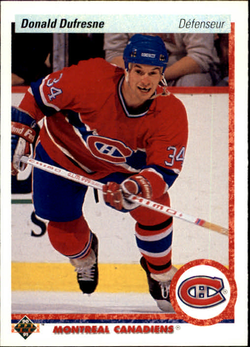 1990-91 Upper Deck French #332 Donald Dufresne UER/(Says shoots right