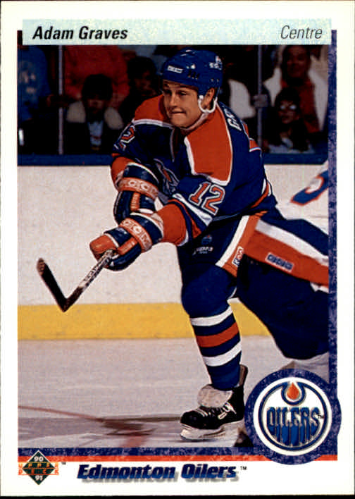 1990-91 Upper Deck French #344 Adam Graves RC
