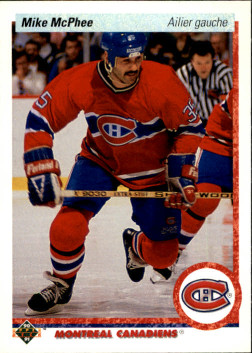 1990-91 Upper Deck French #384 Mike McPhee