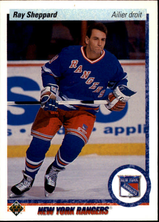 1990-91 Upper Deck French #420 Ray Sheppard