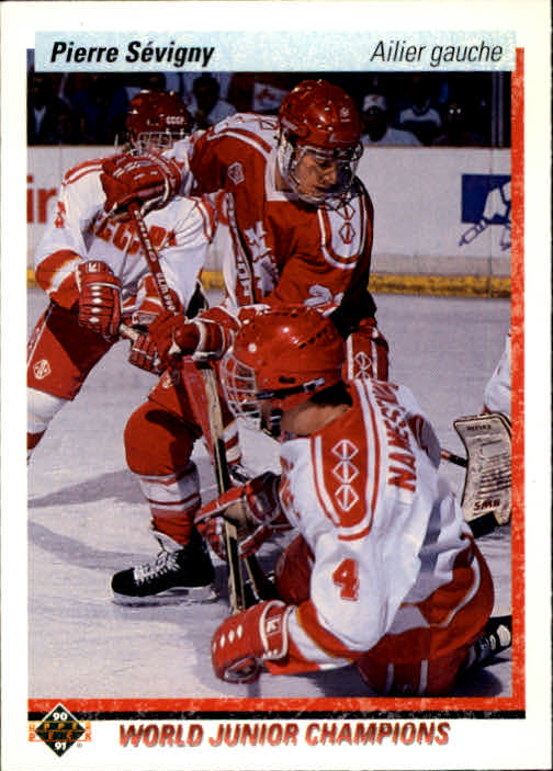 1990-91 Upper Deck French #456 Pierre Sevigny RC