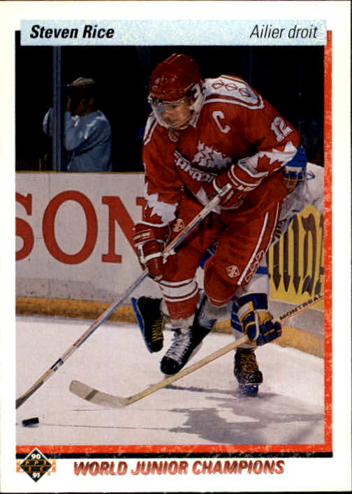 1990-91 Upper Deck French #462 Steven Rice RC