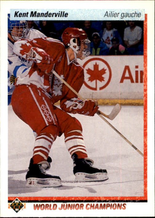 1990-91 Upper Deck French #465 Kent Manderville RC