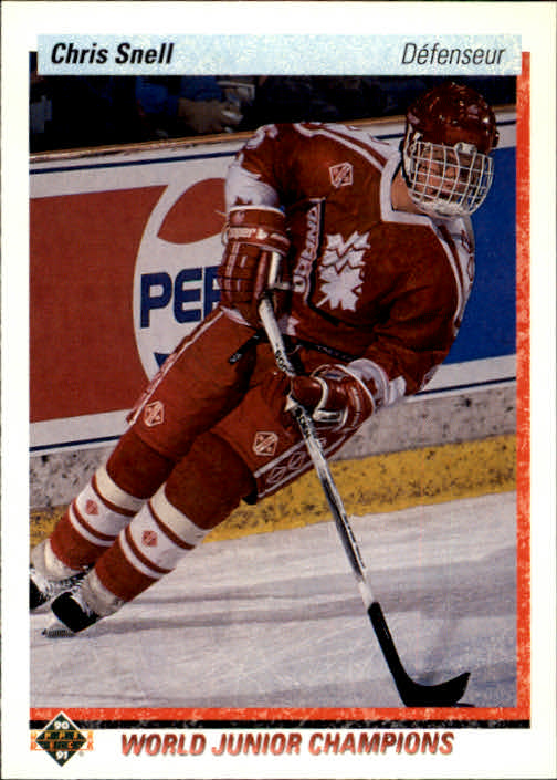 1990-91 Upper Deck French #468 Chris Snell RC