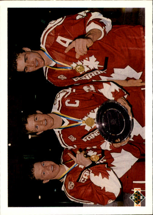 1990-91 Upper Deck French #473 Canada's Captains/Kris Draper/Steven Rice/Eric Lindros