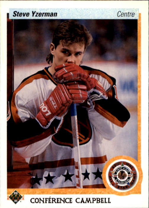 1990-91 Upper Deck French #477 Steve Yzerman AS
